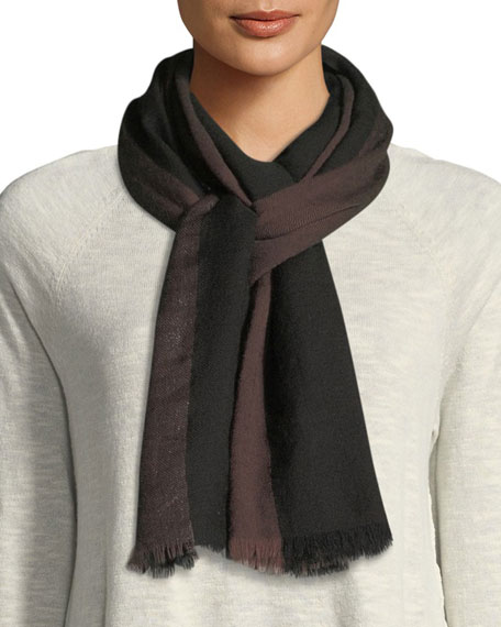 Striped Lurex Borders Scarf