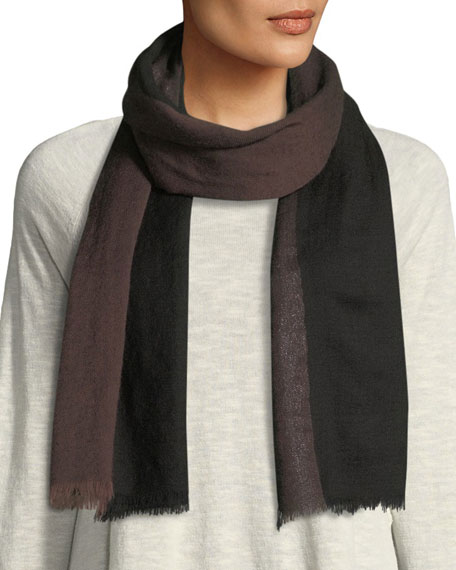 Eileen Fisher Striped Lurex Borders Scarf