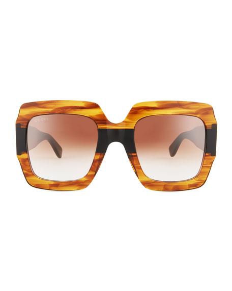 Oversized Square Web GG Sunglasses