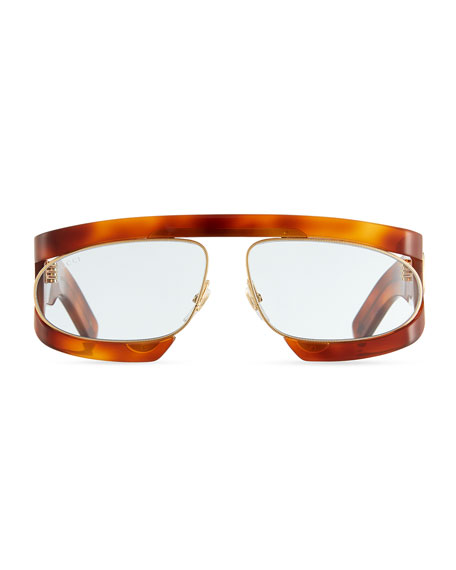 Acetate Rectangle GG Sunglasses