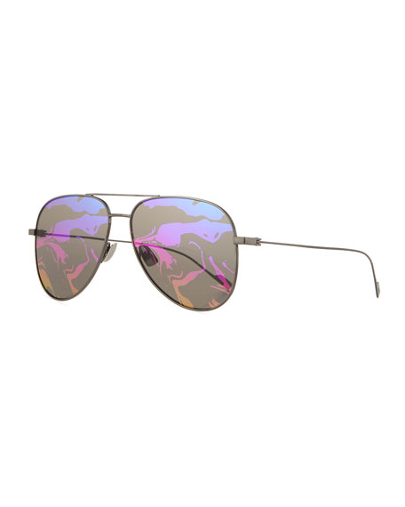 Saint Laurent SL 193 Abstract-Lenses Aviator Sunglasses