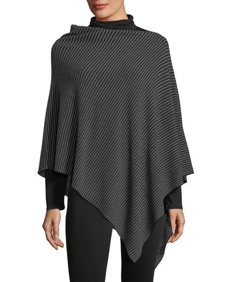 Fine Merino Links Striped Poncho