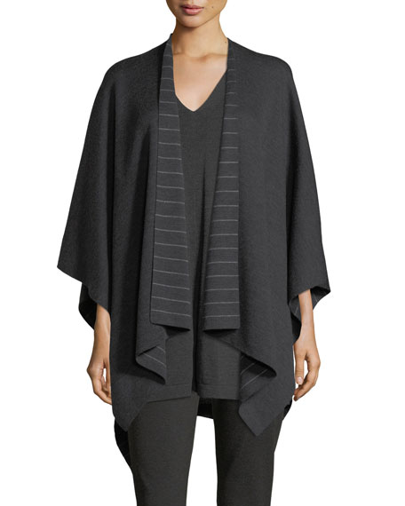 Eileen Fisher Fine Merino Striped Serape