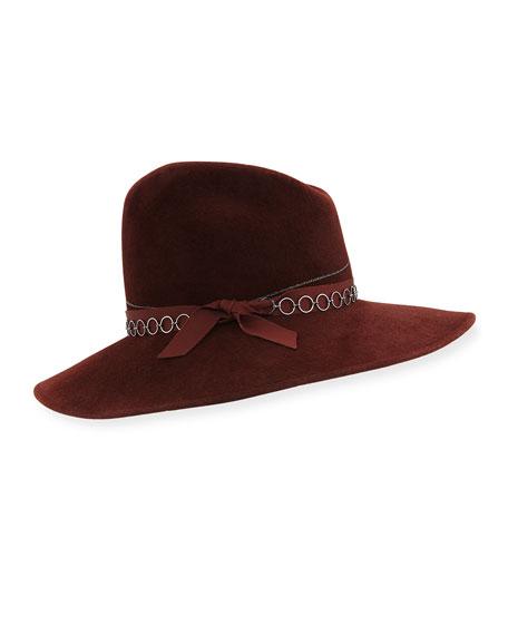 Gigi Burris Drake Fedora Hat w/ Chain Link