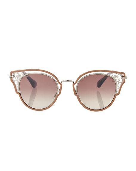 Dhelias Filigree Stainless Steel Round Sunglasses