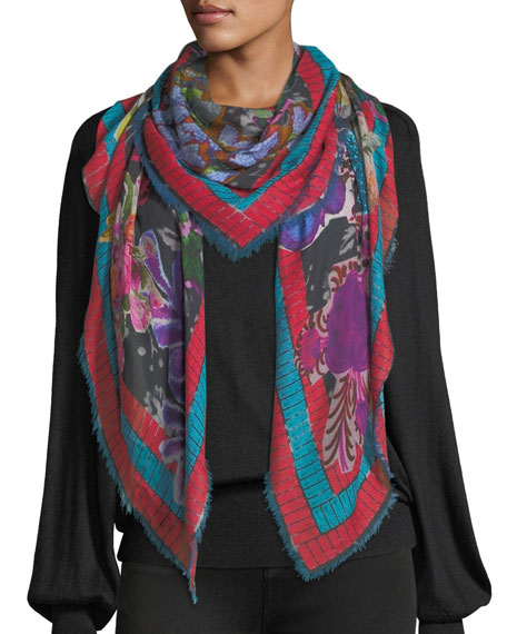 Jane Carr Decoupage Square Scarf