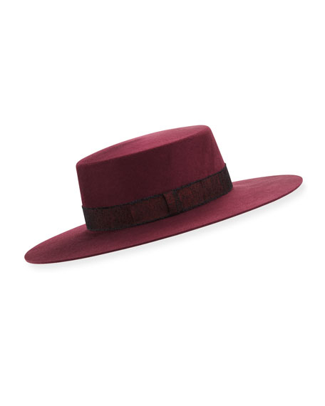 Division Bolero Wool Flat-Top Hat