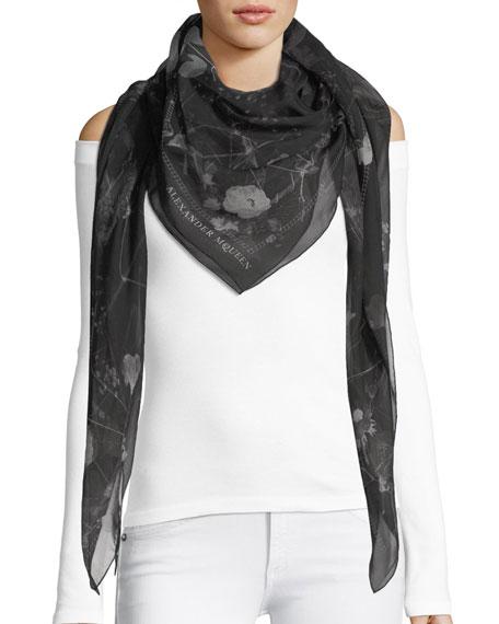 Black Magic Silk Scarf