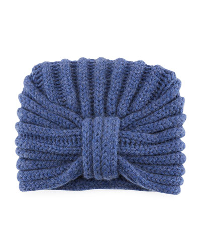 Classic Cashmere Head Turban, Light Blue
