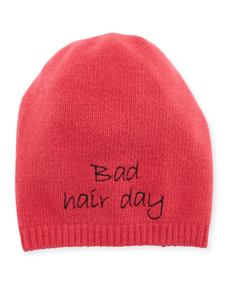 Portolano Bad Hair Day Cashmere Beanie Hat
