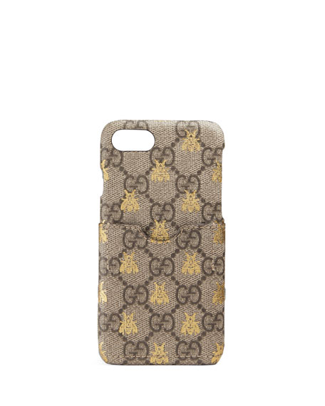 GG Supreme Canvas iPhone 7 Case with Card Slot