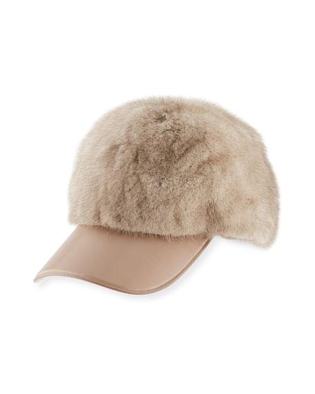 Mink Fur Baseball Hat
