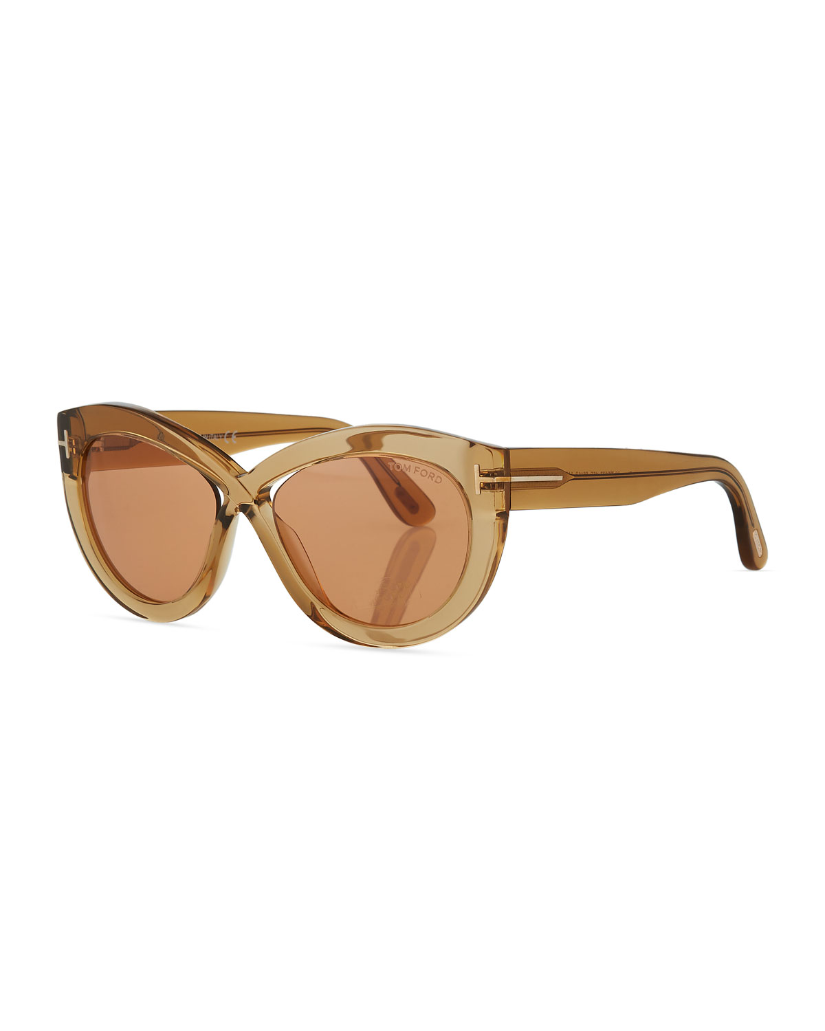 02d958b3c1 TOM FORD Diane Transparent Acetate Butterfly Sunglasses