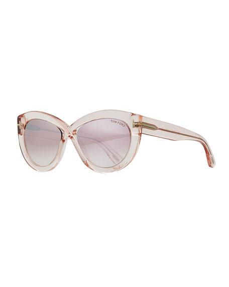 Diane Transparent Acetate Butterfly Sunglasses