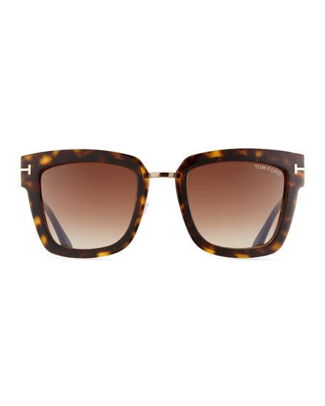 Lara Acetate & Metal Square Sunglasses