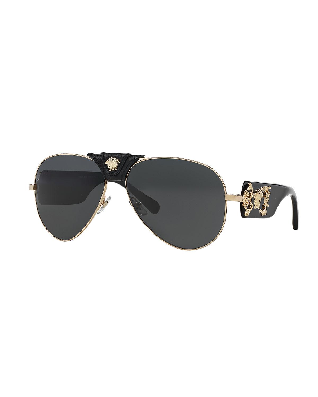 26ff293f244 Versace Medusa Aviator Sunglasses