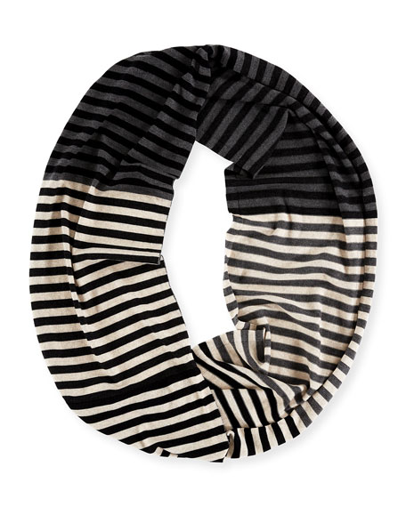 Merino Striped Infinity Scarf