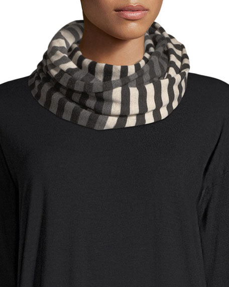 Eileen Fisher Merino Striped Infinity Scarf