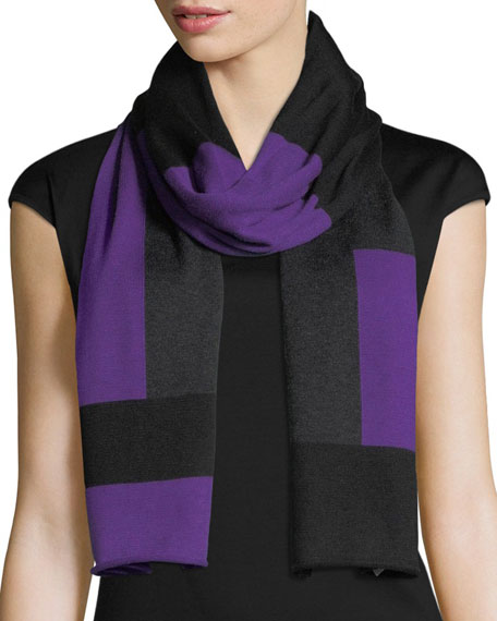 Eileen Fisher Colorblock Tencel®-Blend Scarf