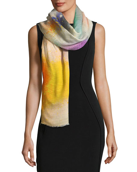 Faliero Sarti L'Acessorio Spray Heart Rectangle Scarf