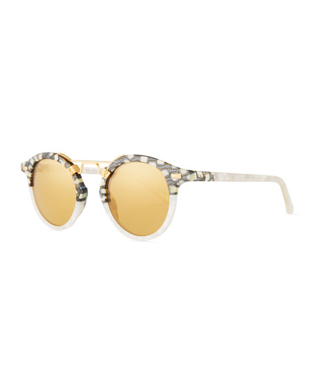 KREWE STL II Two-Tone Mirrored Sunglasses