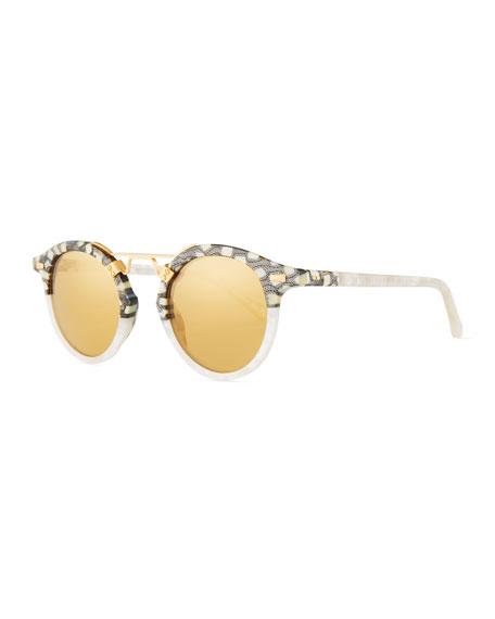 KREWE STL II Two-Tone Mirrored Sunglasses