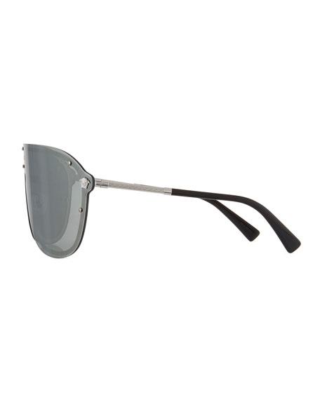 Greek Key Shield Sunglasses