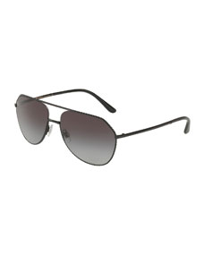 6224e16af9c Dolce   Gabbana Braided Metal Aviator Sunglasses