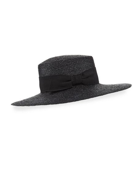 Alora Raffia Boater Hat