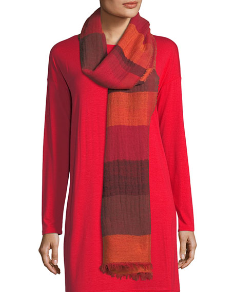 Eileen Fisher Building Blocks Wool-Blend Scarf