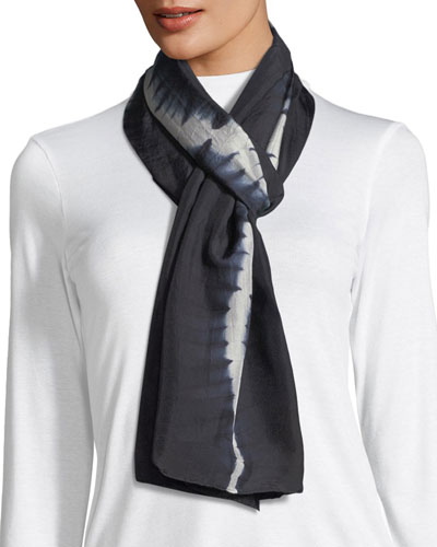 Shibori Luminescent Silk Scarf