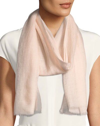 Sparge Cashmere Accent Desire Stole, Light Pink