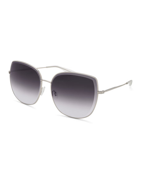 Espirutu Gradient Butterfly Sunglasses, Gray