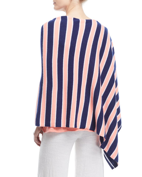 Image 3 of 3: Striped Cashmere Poncho