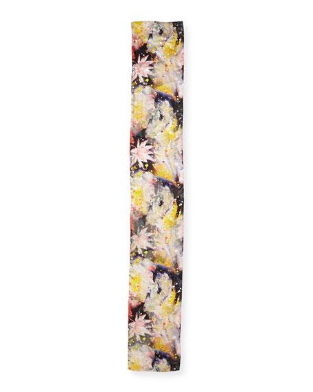 Wild Flower Silk-Blend Devore Scarf