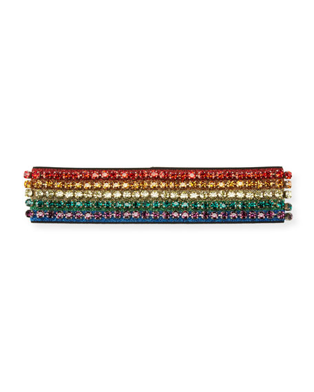 Gucci Metallic Crystal Webby Headband