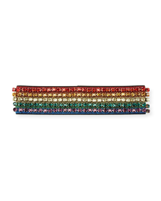 Gucci Metallic Crystal Webby Headband  9e04da7b827