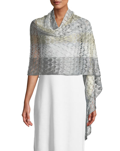 Knit Shimmer Shawl