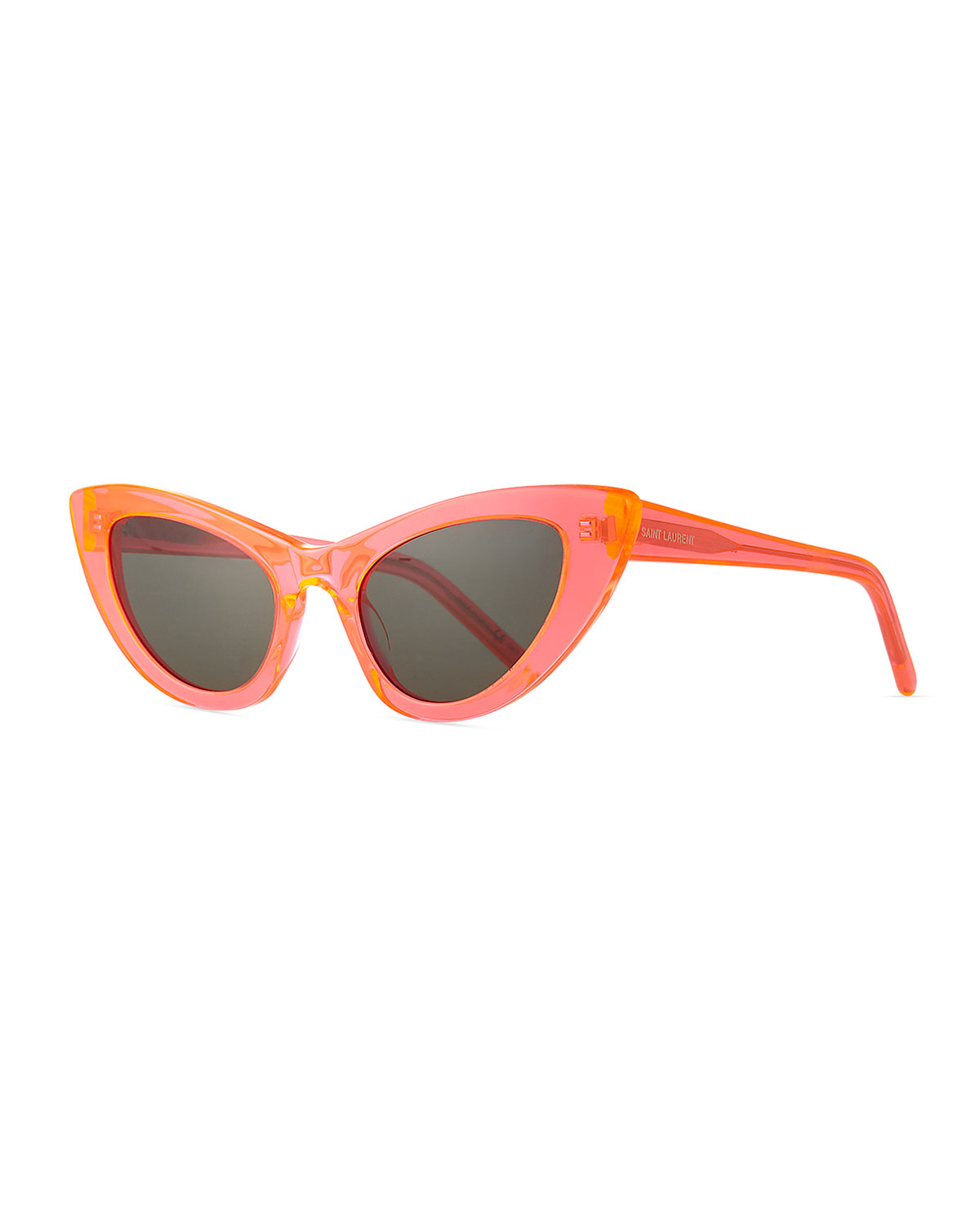 0d54a24384 Saint Laurent Lily Cat-Eye Acetate Sunglasses