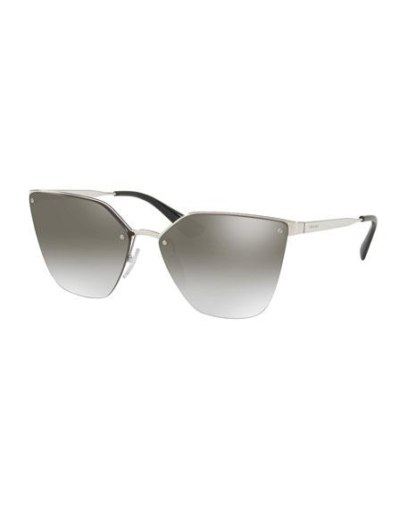 Prada Mirrored Square Cat-Eye Sunglasses