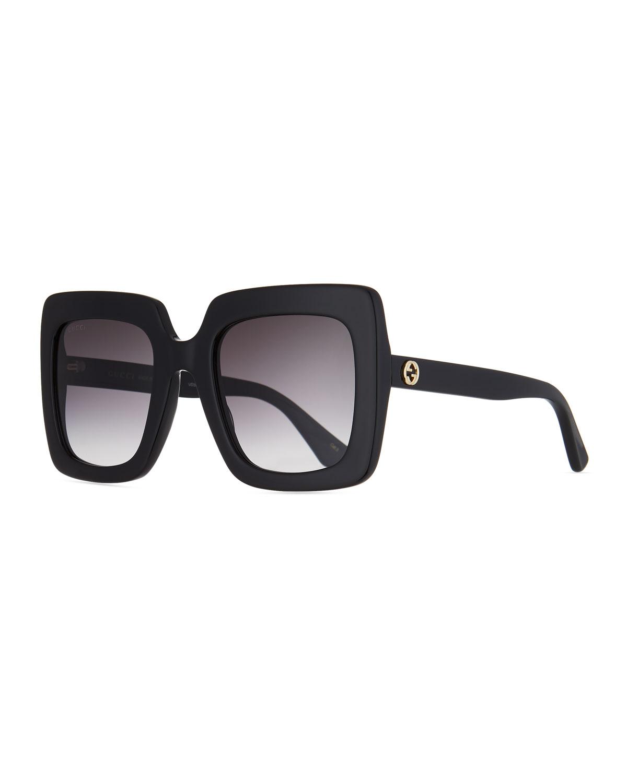 4c8f9b89d862 Gucci Square Acetate Gradient Sunglasses | Neiman Marcus