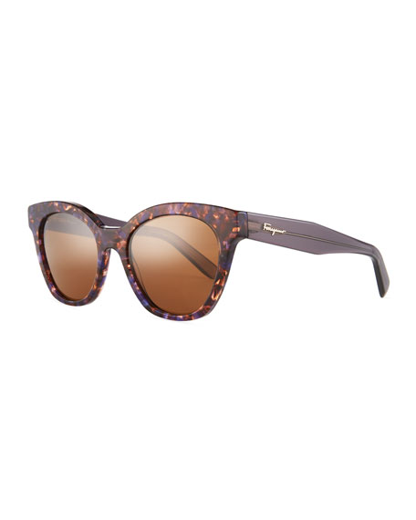Salvatore Ferragamo Classic Cat-Eye Zyl® Sunglasses