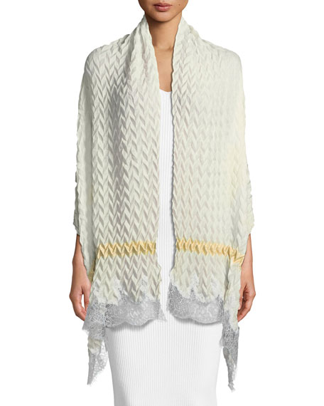 Pure Effection Wool-Silk Stole