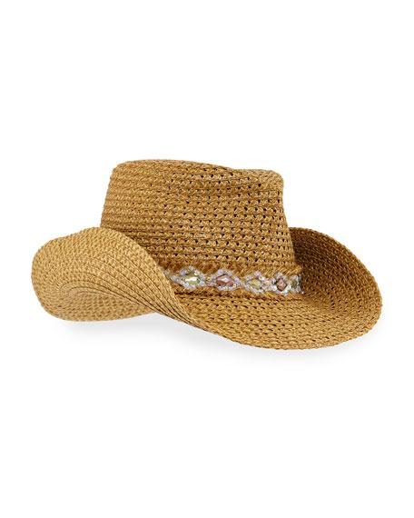 Eric Javits Ariela Squishee Woven Cowboy Hat