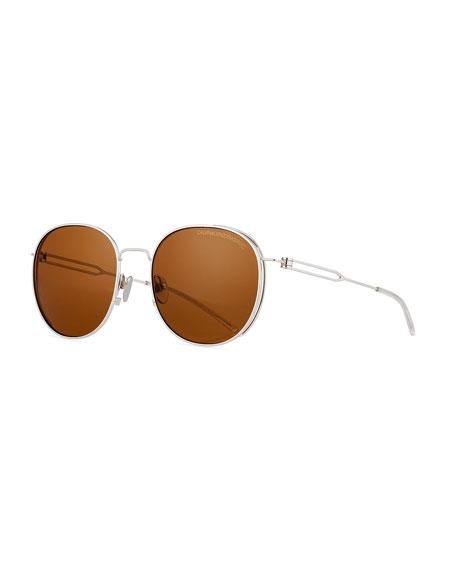 CALVIN KLEIN 205W39NYC Round Titanium Sunglasses