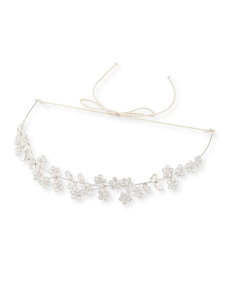 Adelie Crystal Leaf Circlet Headband