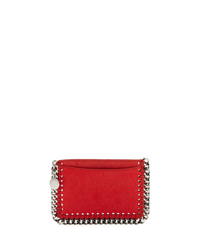 Falabella Shaggy Deer Card Holder, Red