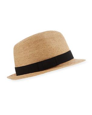 6275a141537617 Helen Kaminski Avara Raffia Straw Fedora Hat