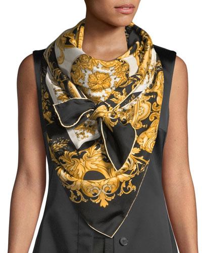 Vogue Collage Silk Shawl