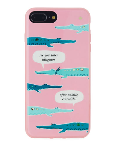 jeweled alligator iPhone® 7/8 plus case